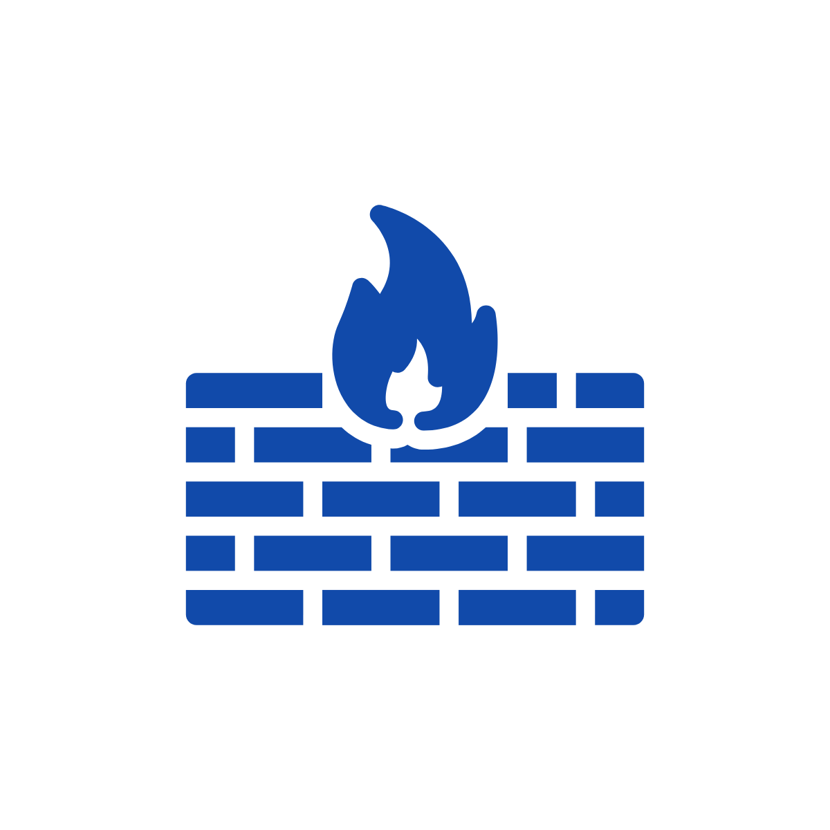Brick wall with fire