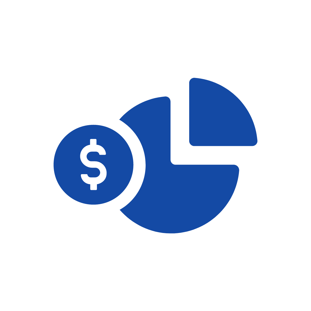 pie chart with dollar sign