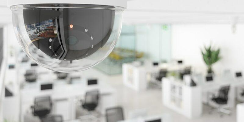 dome camera in workspace