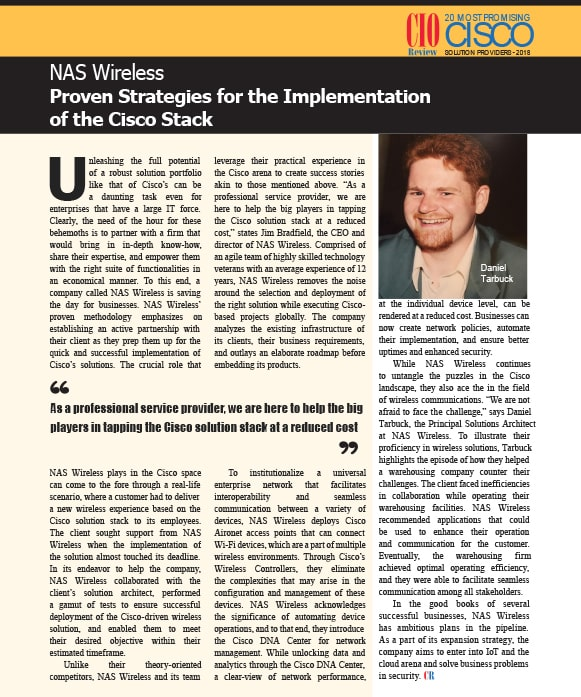 NAS Wireless Proven Strategies for the Implementation of the Cisco Stack