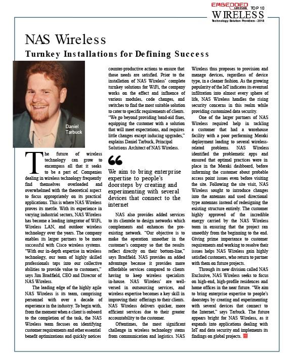 NAS Wireless Turnkey Installation for Defining Success