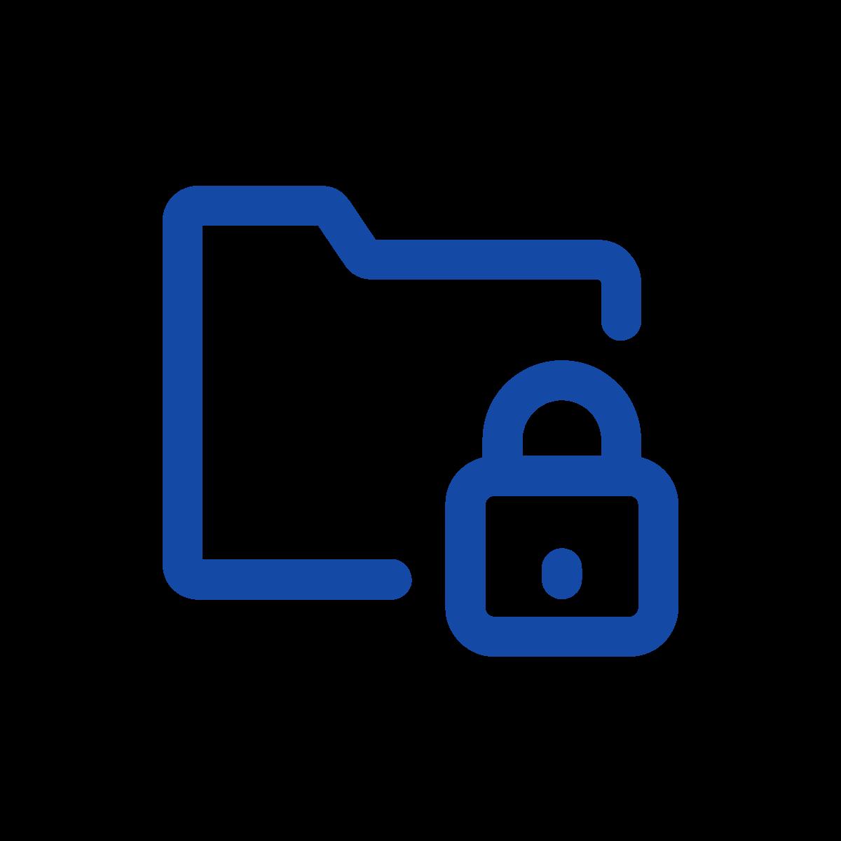 File folder with lock