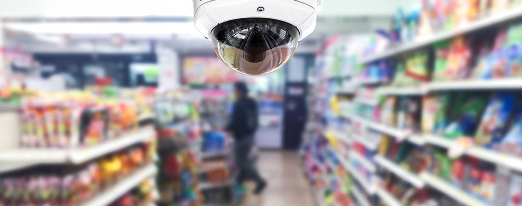 dome camera in convenience store
